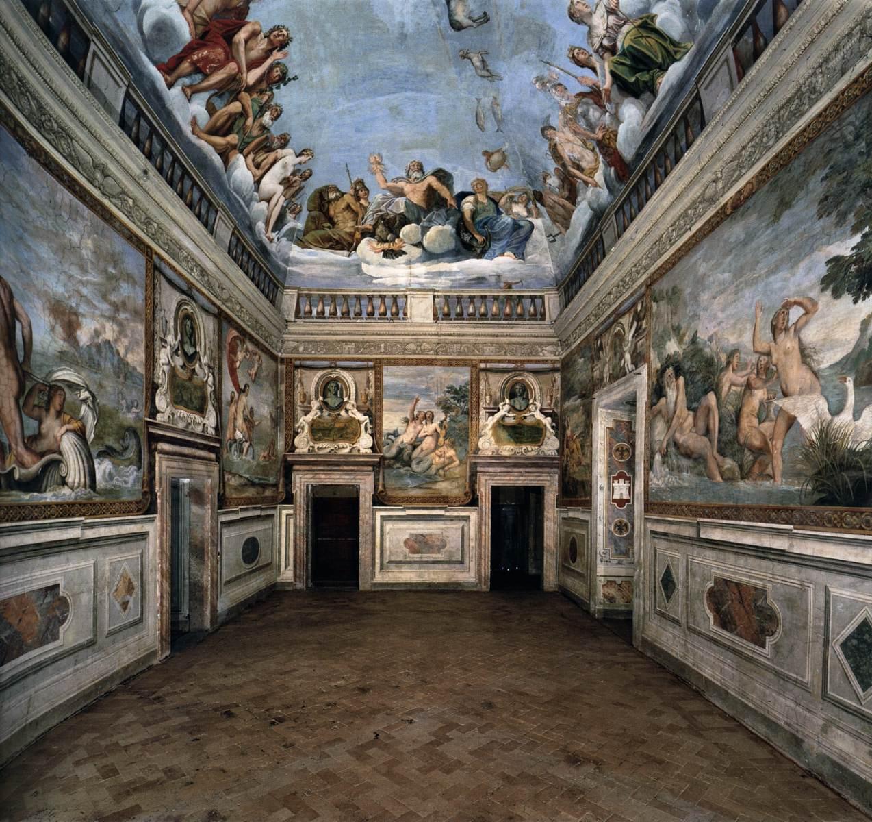 Matrimoni Bassano Romano : Frescoes in the palazzo odescalchi giustiniani bassano