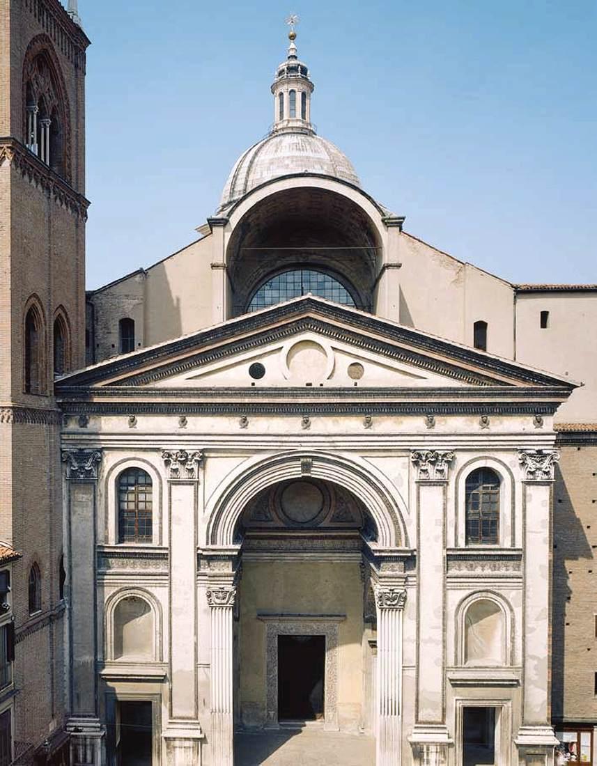 Sant 39 andrea faade by alberti leon battista for Architecture quattrocento