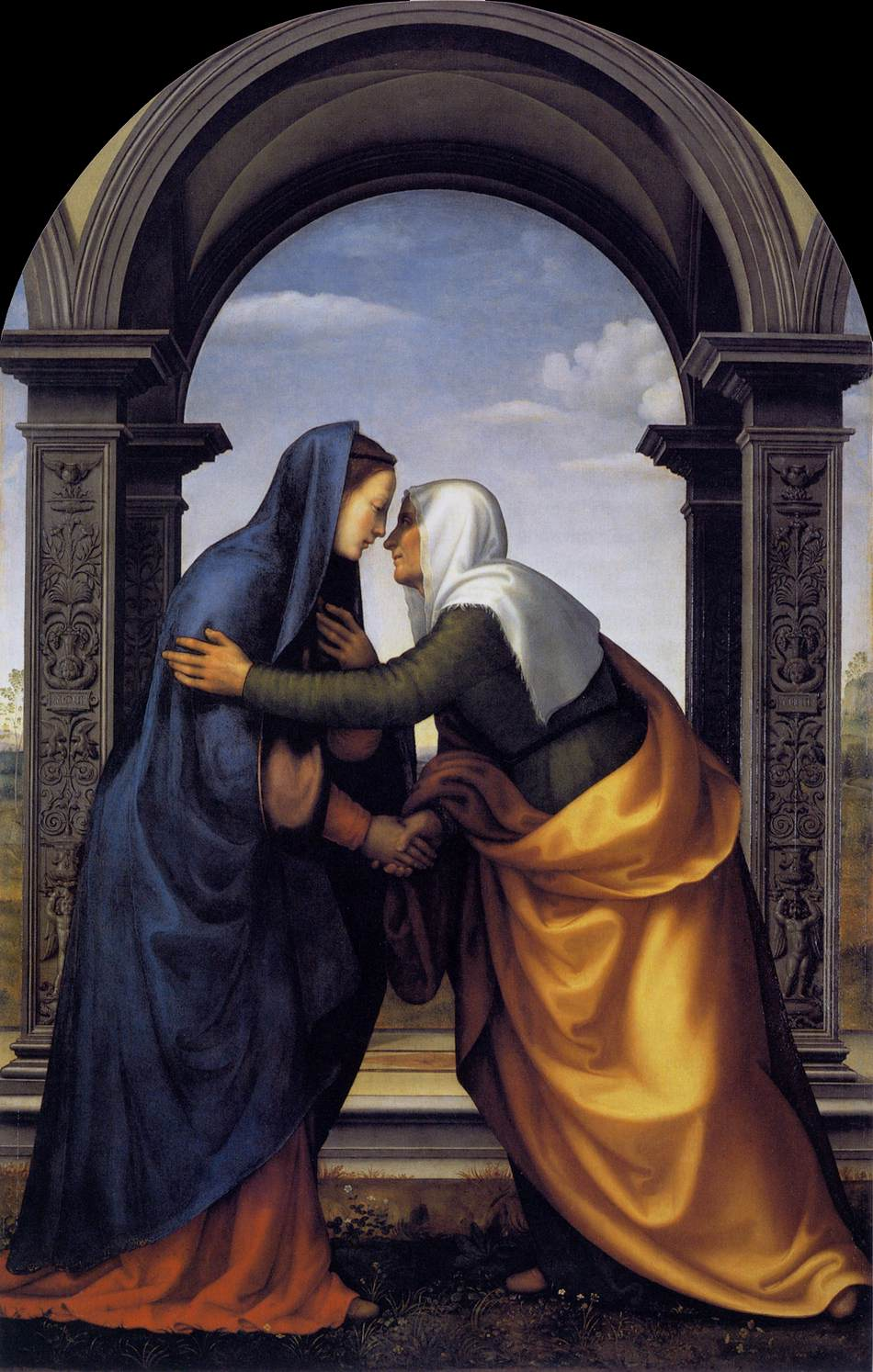 Mary visits Elizabeth. Image located on Web Gallery of Art at https://www.wga.hu.