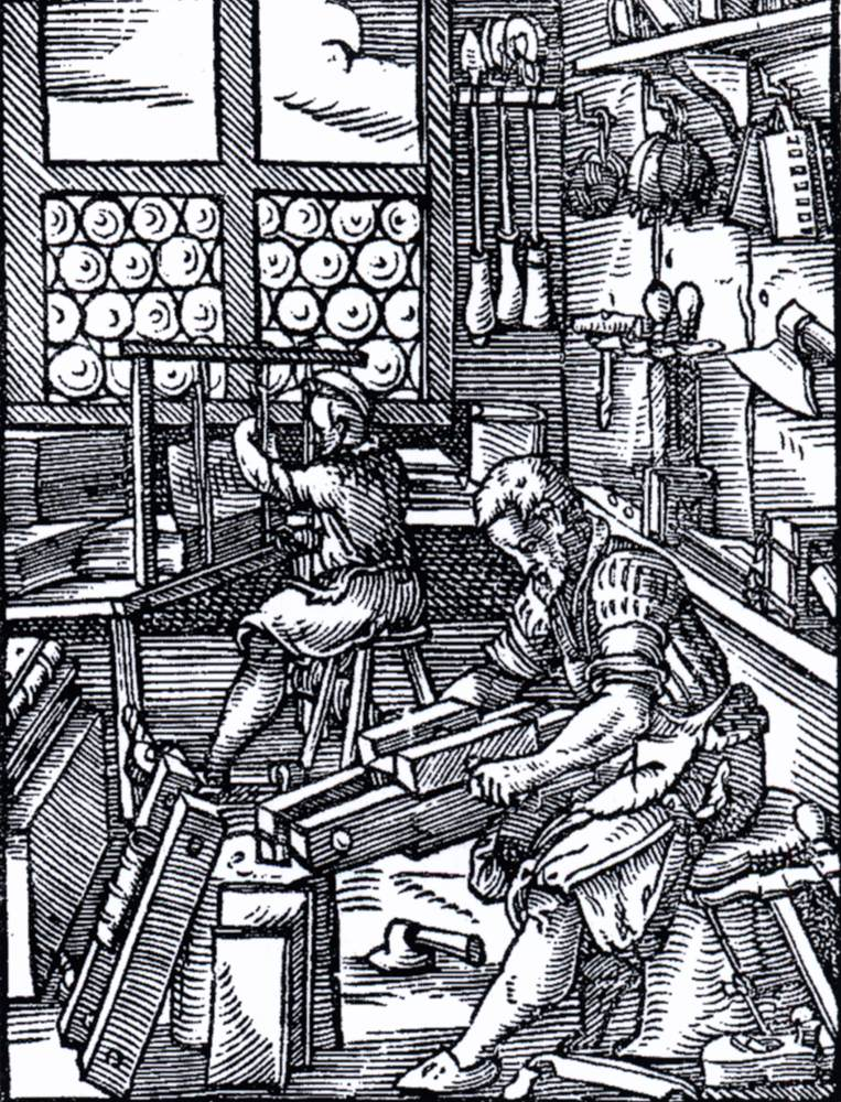 Bookbinding (from the Book of Trades) by AMMAN, Jost