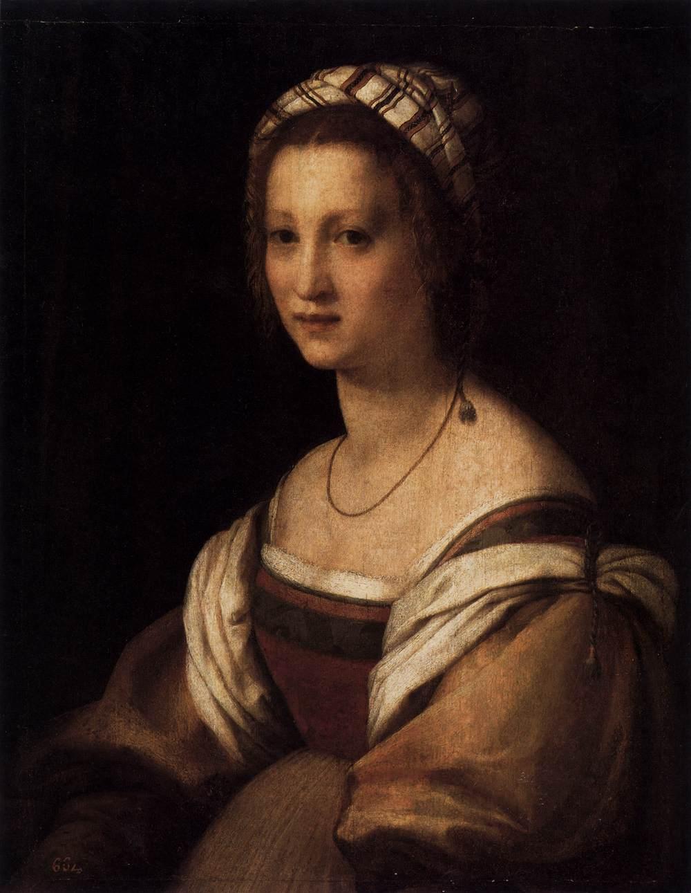 Andrea del Sarto - Retrato da esposa do artista