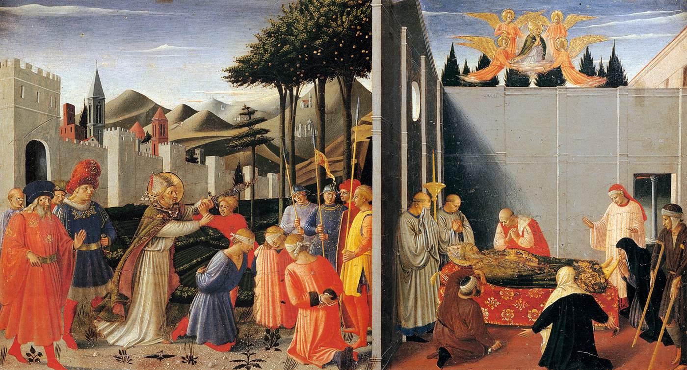 Den salige Fra Angelico (ca 1400-55): St Nikolas' død (ca 1437), Galleria Nazionale dell'Umbria i Perugia