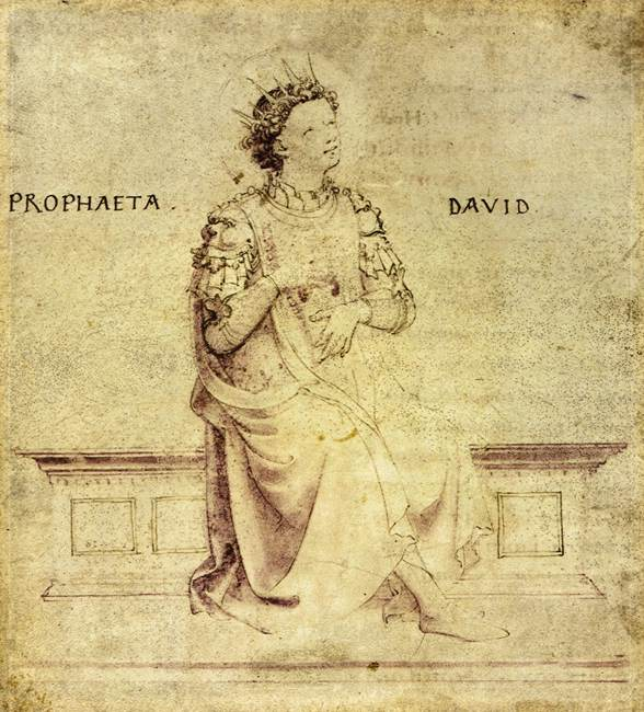 King David Drawing King David Playin a Psaltery