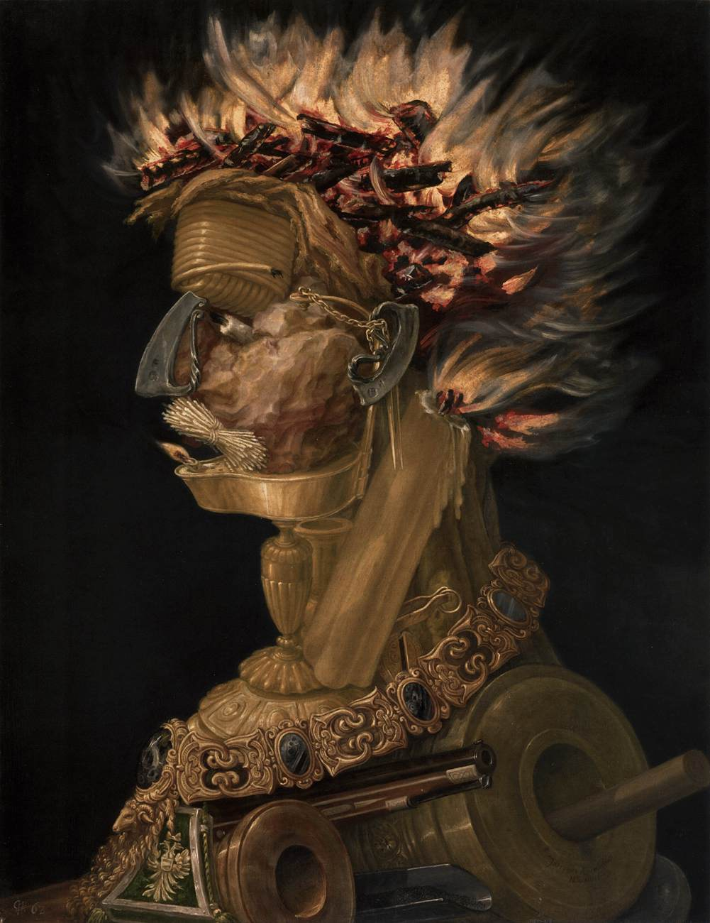 Fire By Arcimboldo Giuseppe