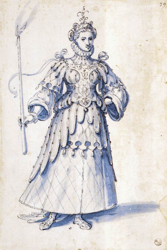 Festival Costumes Drawing Costume Drawing of a Female