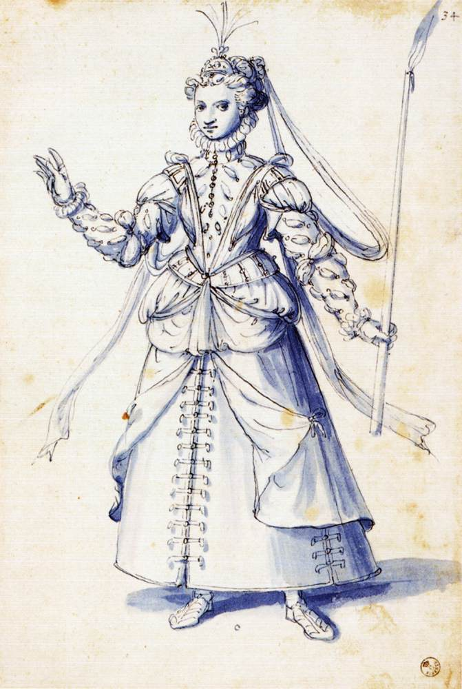 Festival Costumes Drawing Costume Drawing of a Woman