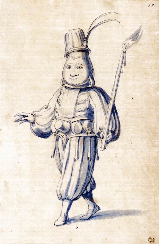 Festival Costumes Drawing Costume Drawing of a Cook