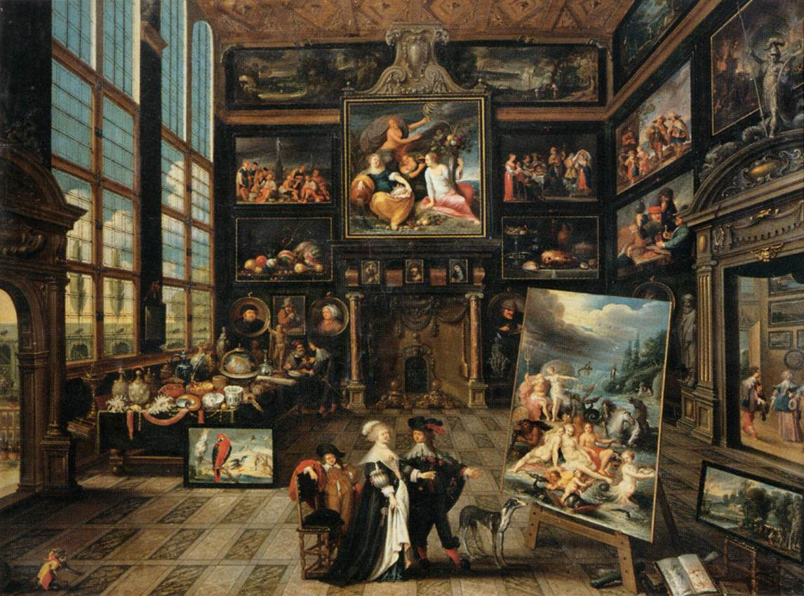 interior of a collector 39 s gallery of paintings and objets. Black Bedroom Furniture Sets. Home Design Ideas