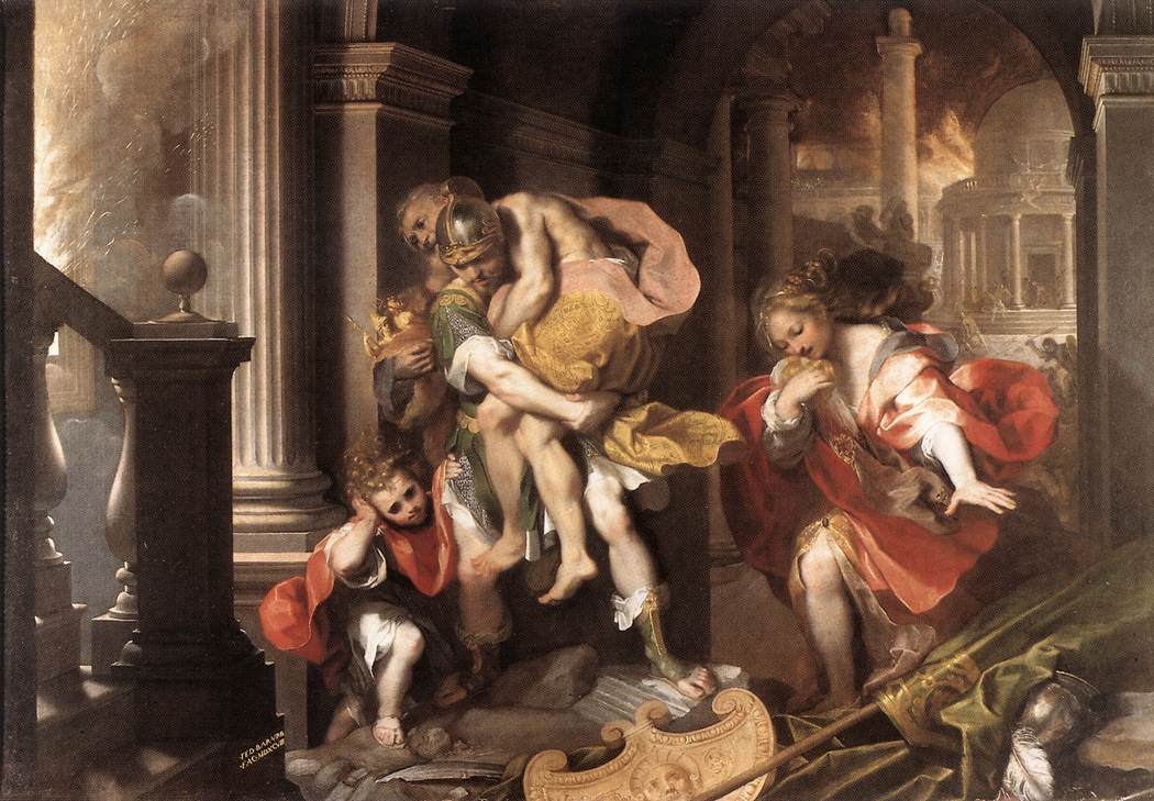 imagery and descriptions of events in the aeneid by virgil
