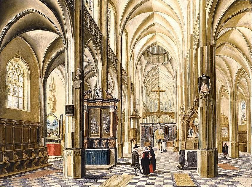 《哥特式大教堂内部》