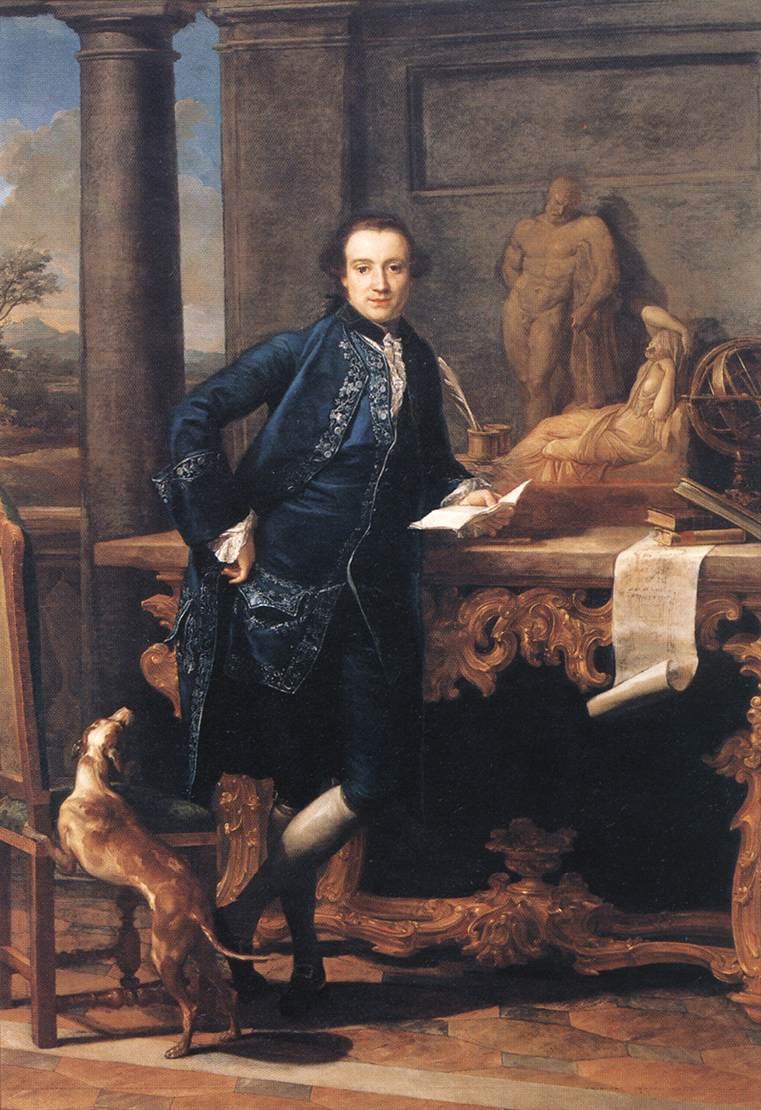 Charles Crowle, 1761-62, by Pompeo Batoni