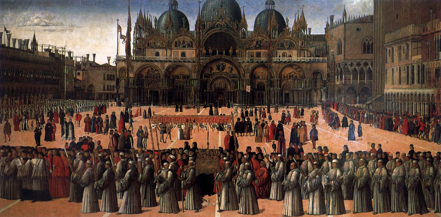 Procession in Piazza San Marco. 1496