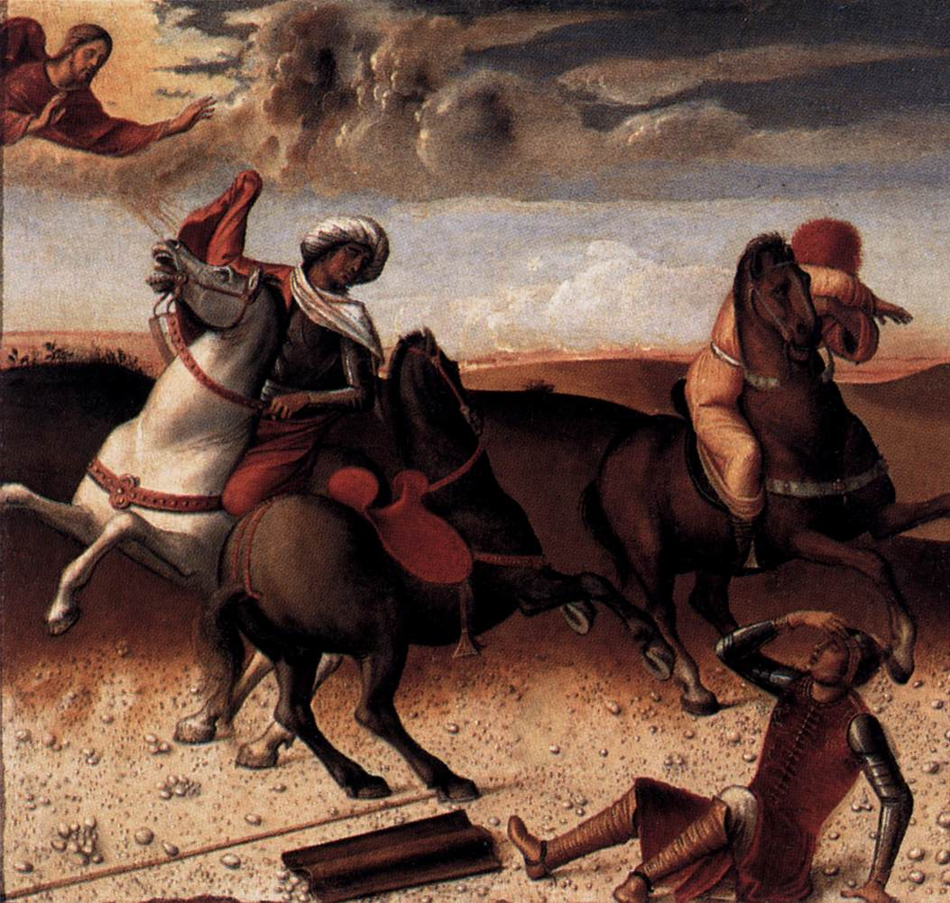 Giovanni Bellini, Conversion of St. Paul (1472) dans immagini sacre 068pred2
