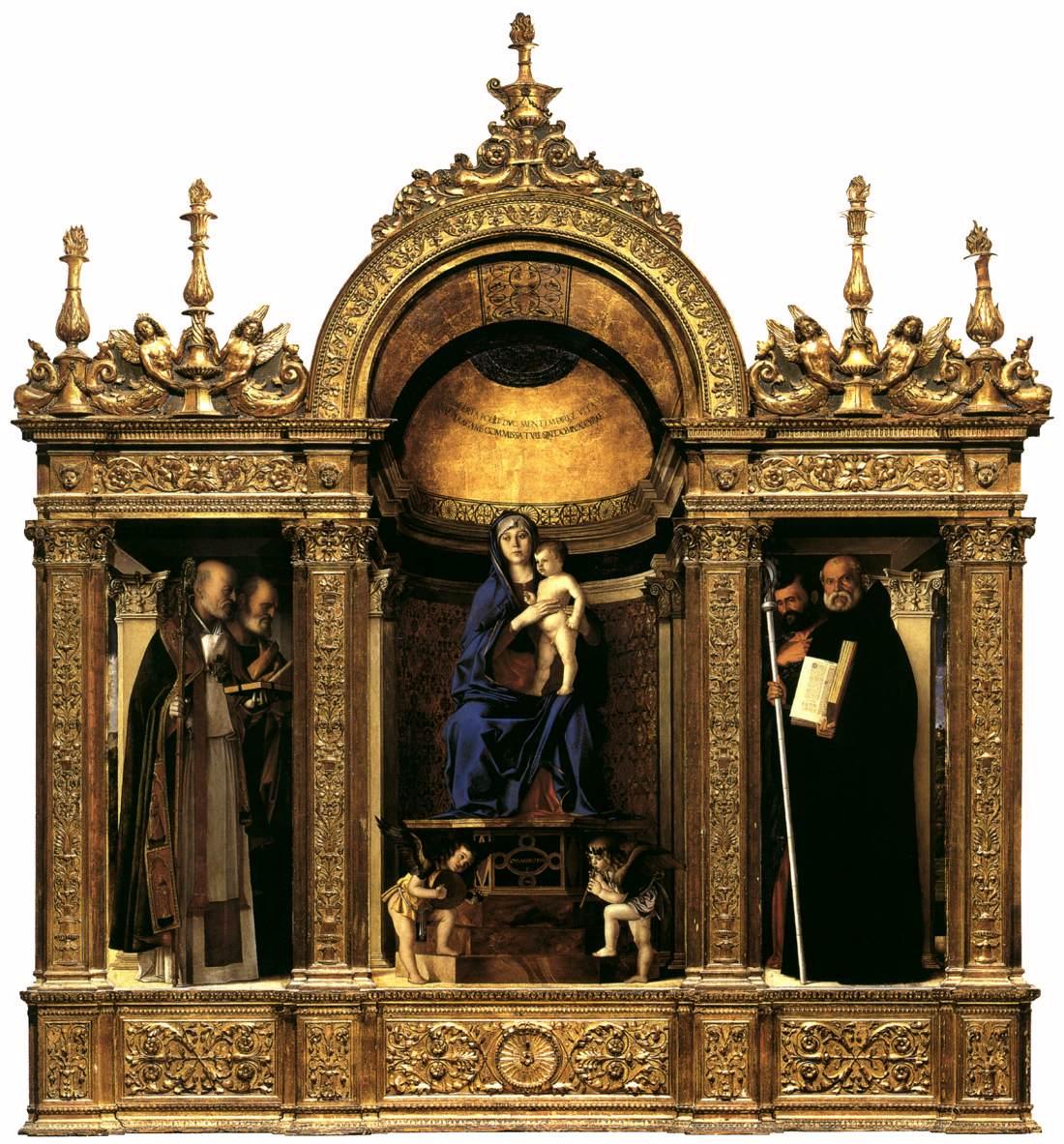 Frari Triptych By BELLINI Giovanni