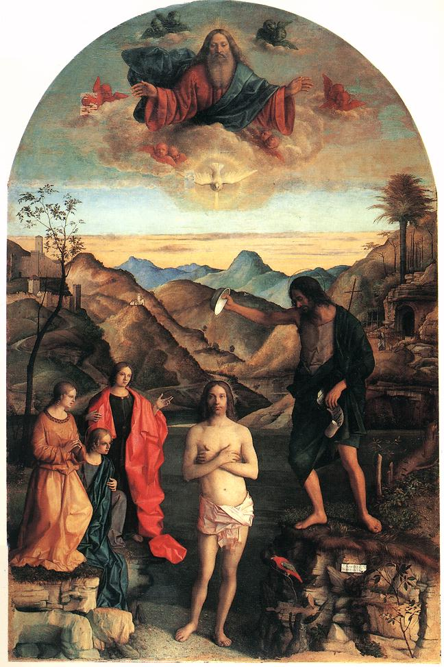 Baptism of christ by bellini giovanni for The giovanni