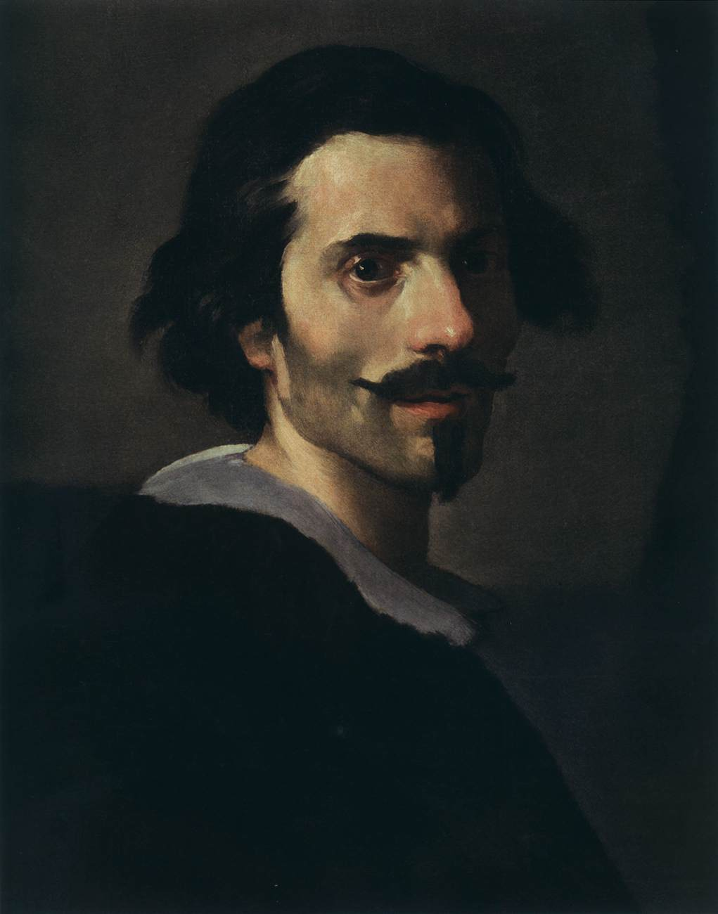 art day self portrait of bernini a fiery expression was part of a double portrait costanza bonarelli in bernini s will it is mentioned as already