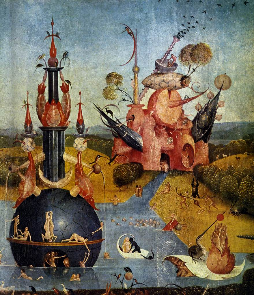 Triptych Of Garden Of Earthly Delights Detail By Bosch Hieronymus