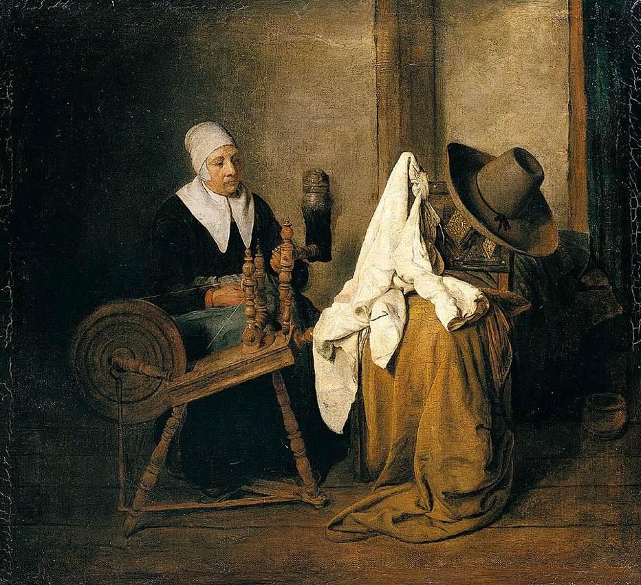 Colonial Portrait Women Shoe