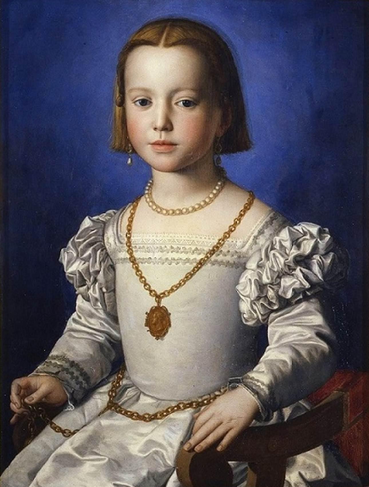 Agnolo Bronzino - Retrato de Bia, filha ilegítima de Cosimo de Medici