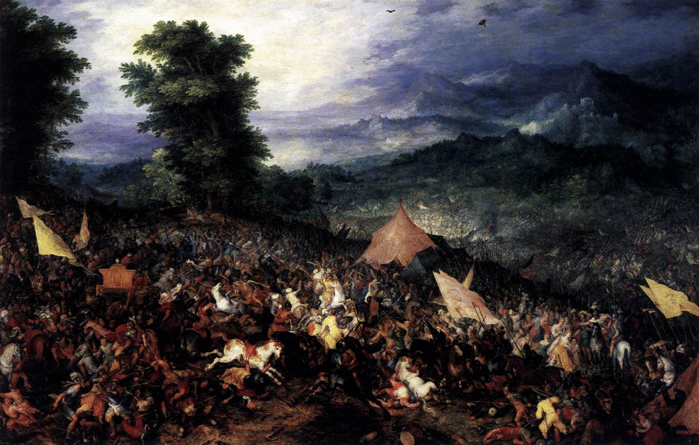 The battle of issus by brueghel jan the elder for Battle of issus painting