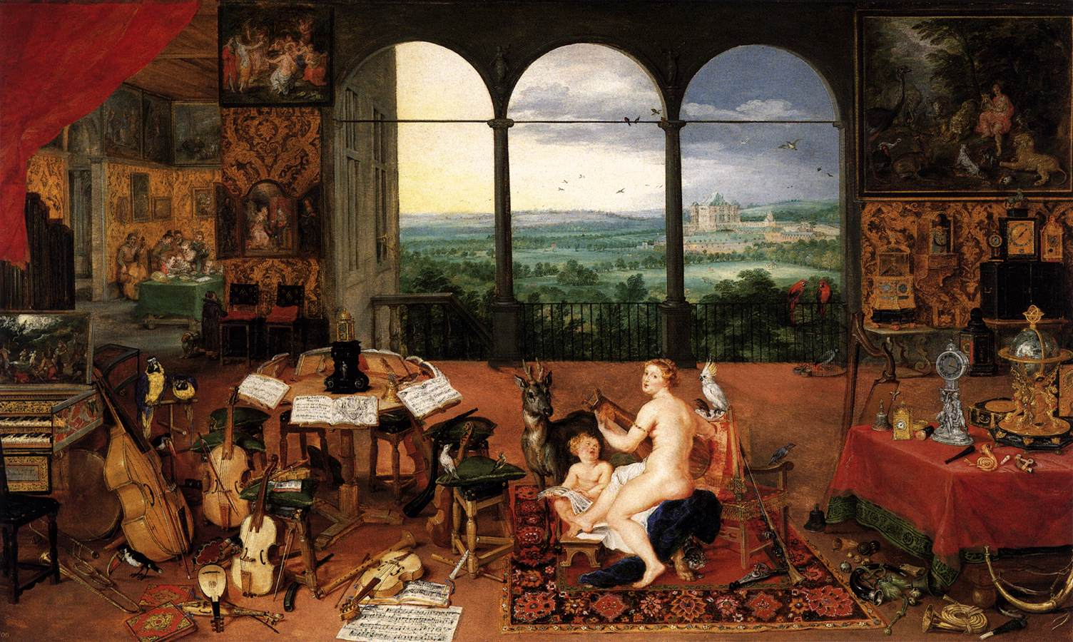the sense of hearing by brueghel jan the elder. Black Bedroom Furniture Sets. Home Design Ideas