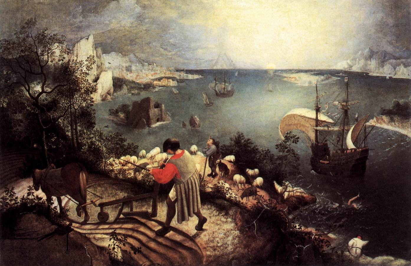 landscape with the fall of icarus essay Access to over 100,000 complete essays and term papers  and one very in depth analysis of brueghel's painting landscape with the fall of icarus to make his point .