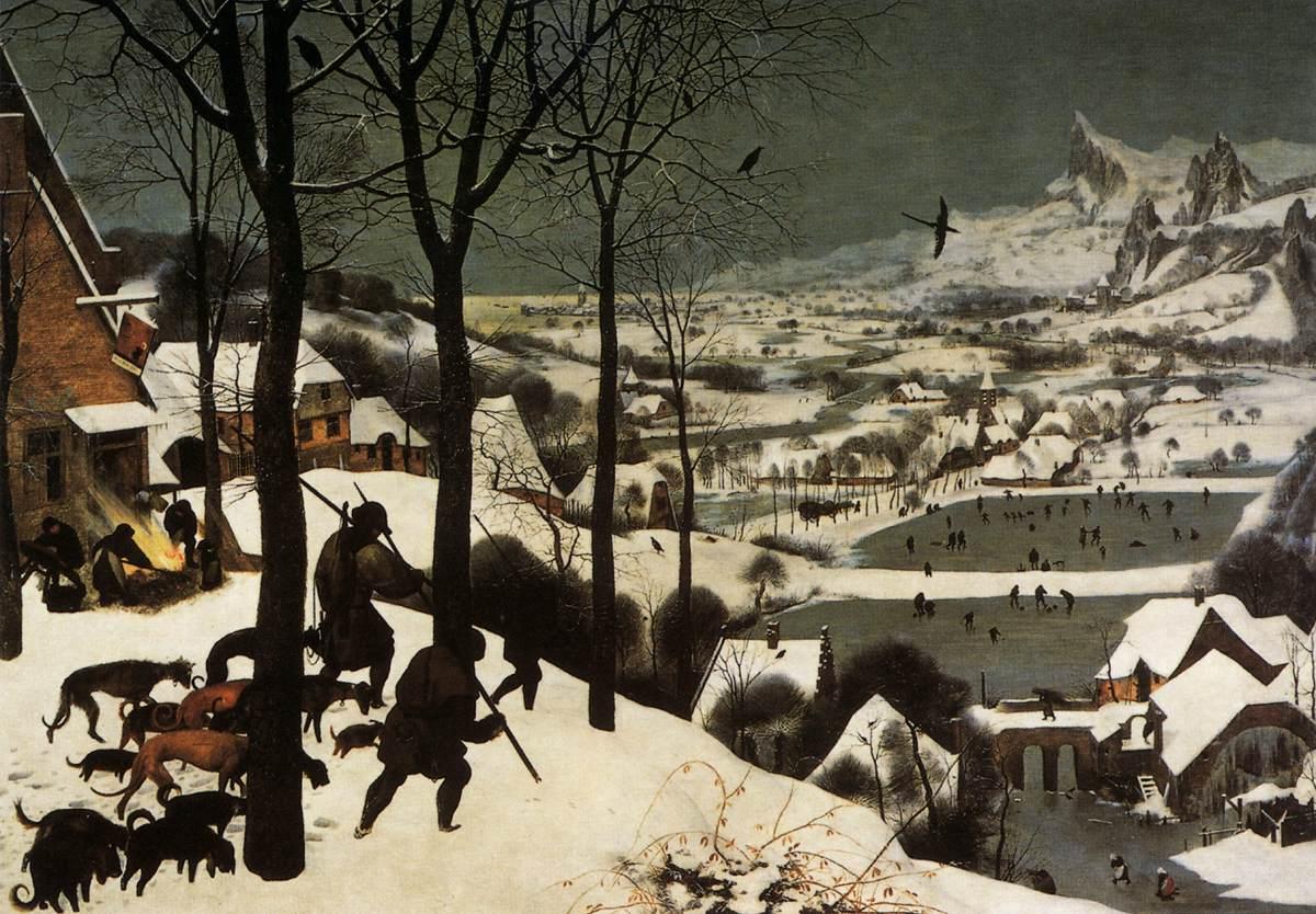 Myśliwi na śniegu (Styczeń) - BRUEGEL, 1565