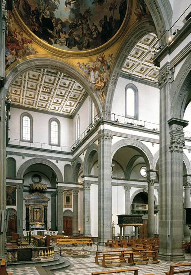 Filippo brunelleschi florence and the o 39 jays on pinterest for Interior iglesia san lorenzo brunelleschi