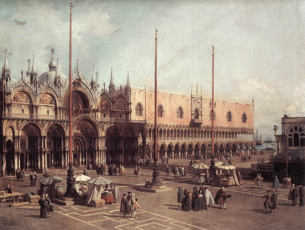 Canaletto, Piazza San Marco: Looking South-East