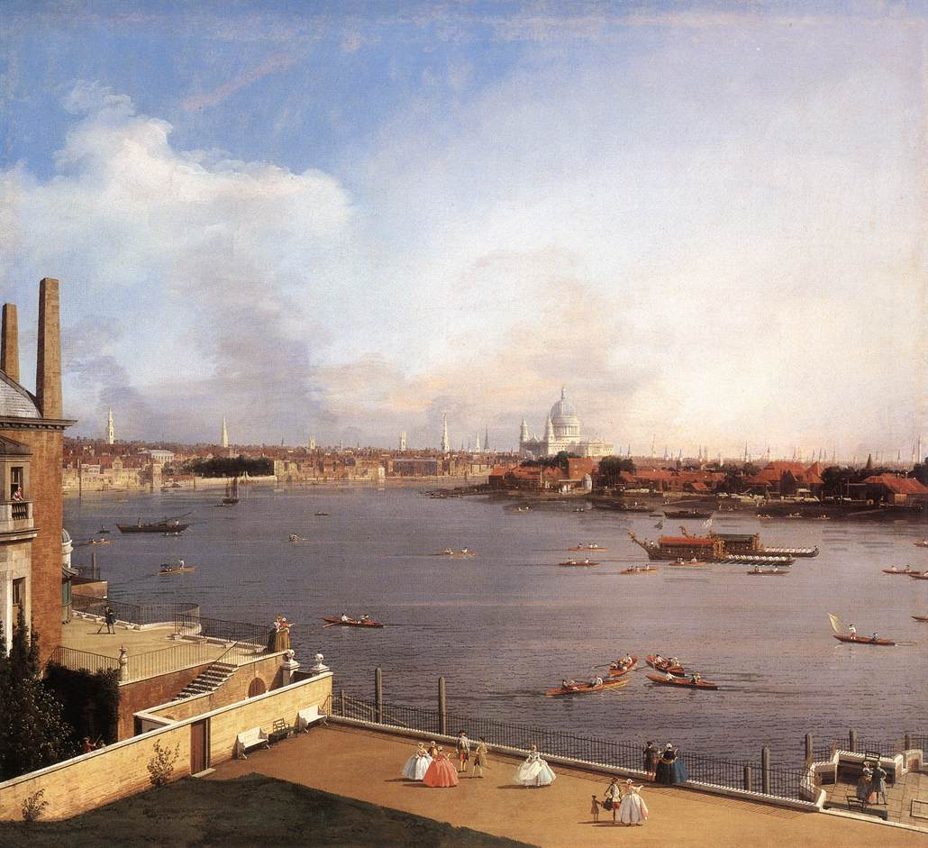 fine art print various sizes the Thames Canaletto London St Pauls cathedral