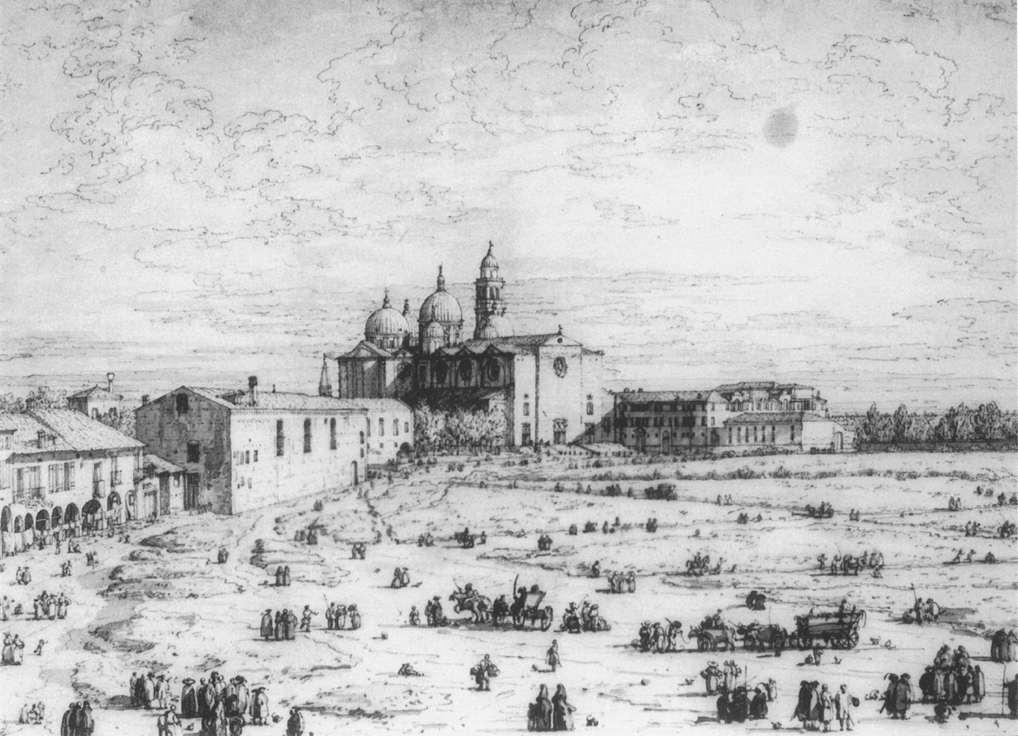 Padua the prato della valle with santa giustinia and the for Prato della valle oggi