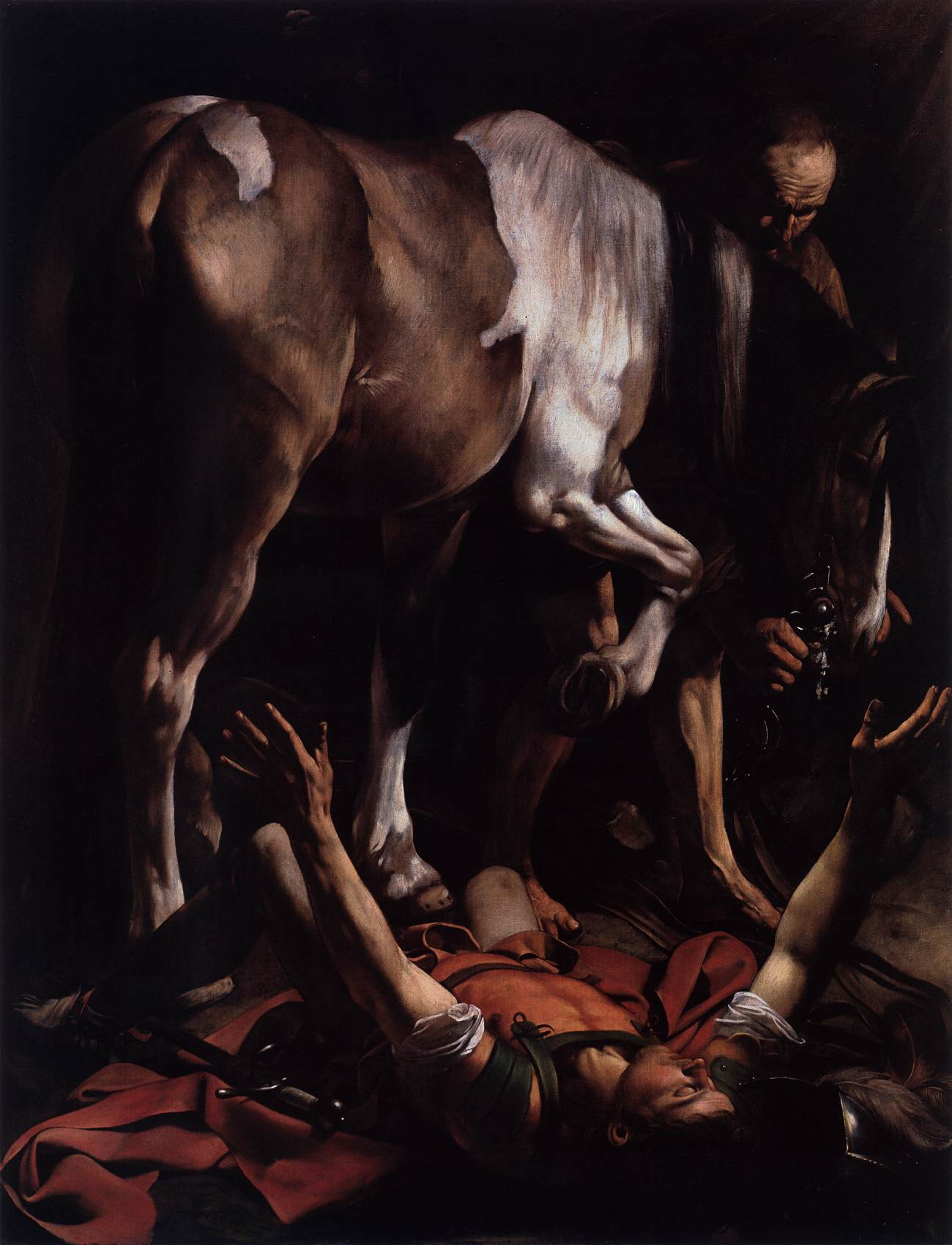 The Conversion on the Way to Damascus by CARAVAGGIO