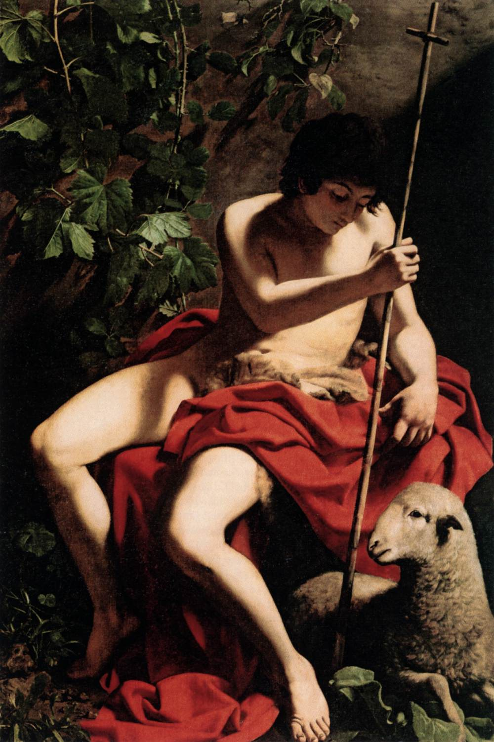 Consider, that john the baptist by caravaggio
