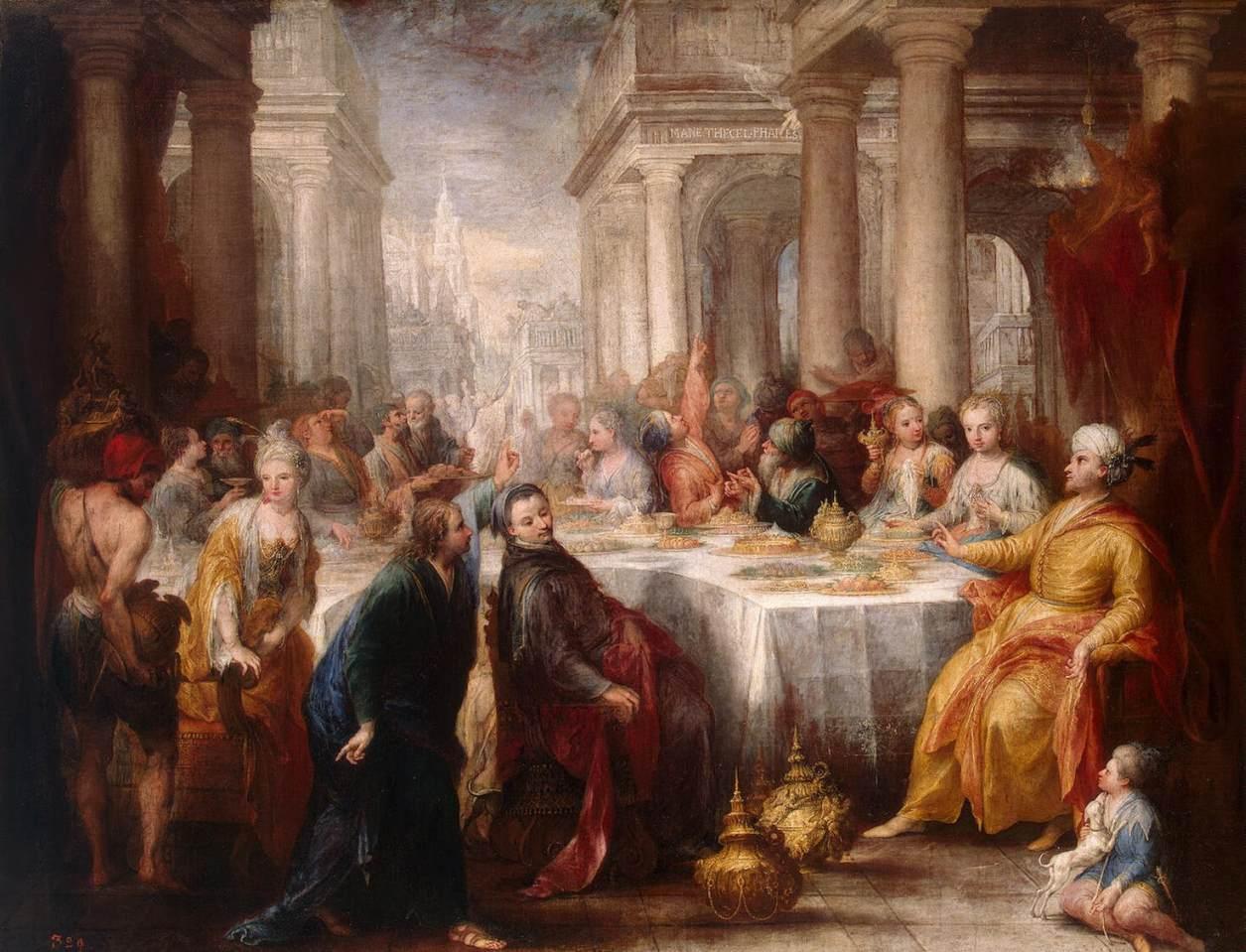 writing at belshazzars feast sermon