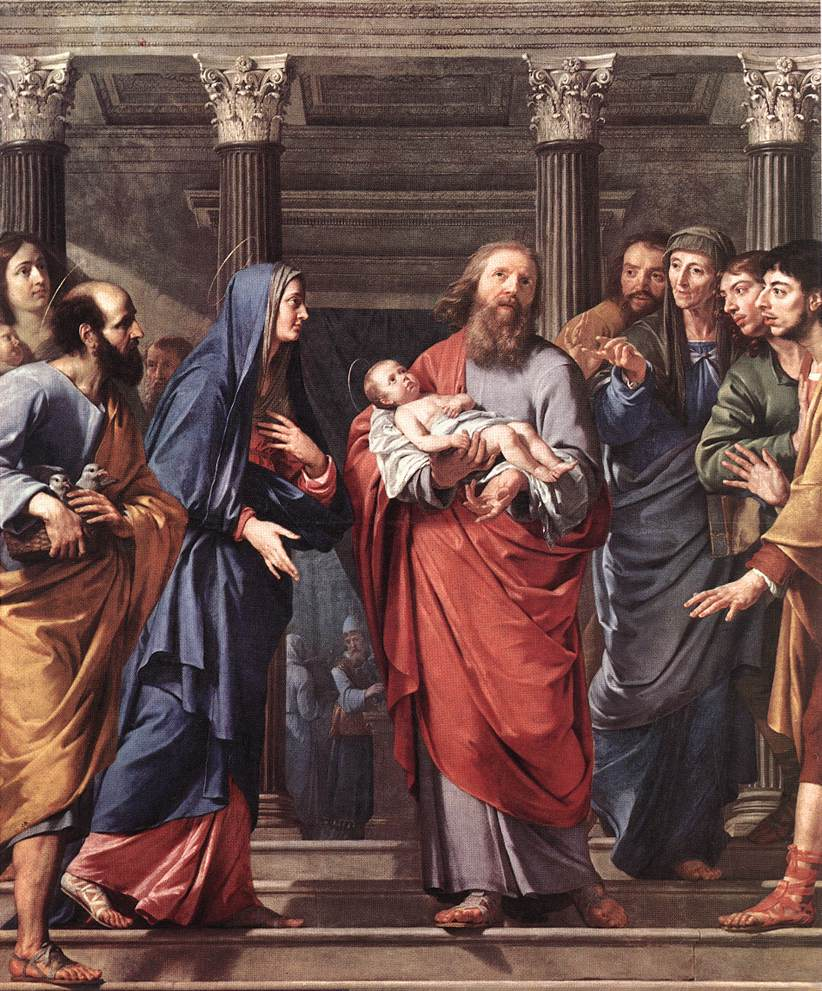 Presentation of Jesus at the temple. Image located on Web Gallery of Art at https://www.wga.hu.