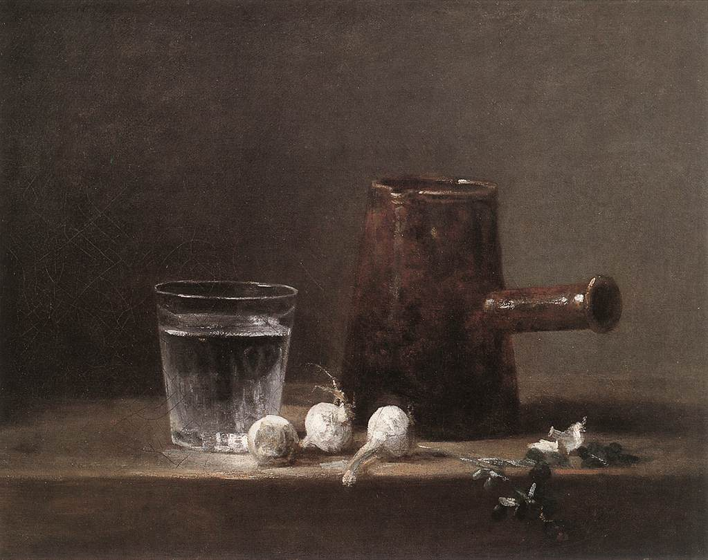 Water Glass and Jug by CHARDIN, Jean-Baptiste-Simon