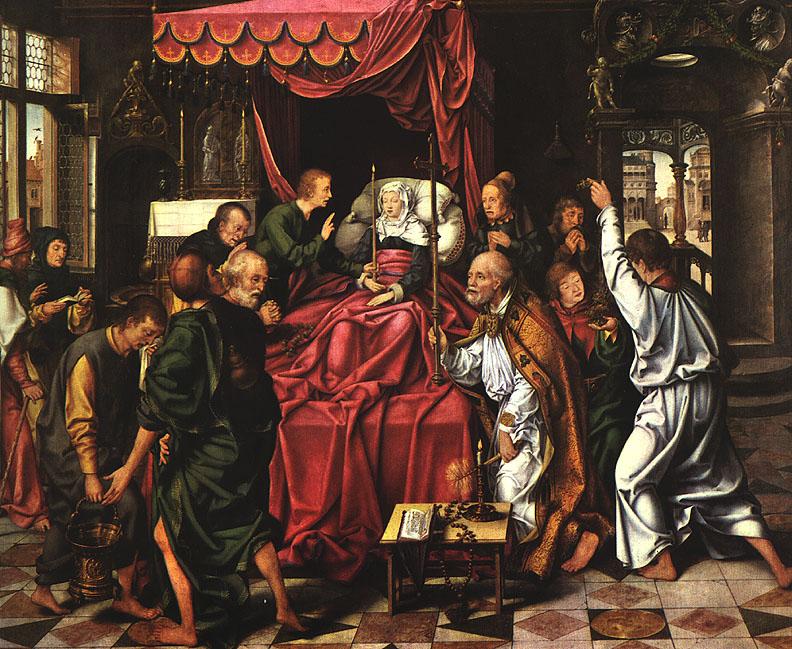 the death of the virgin by cleve joos van