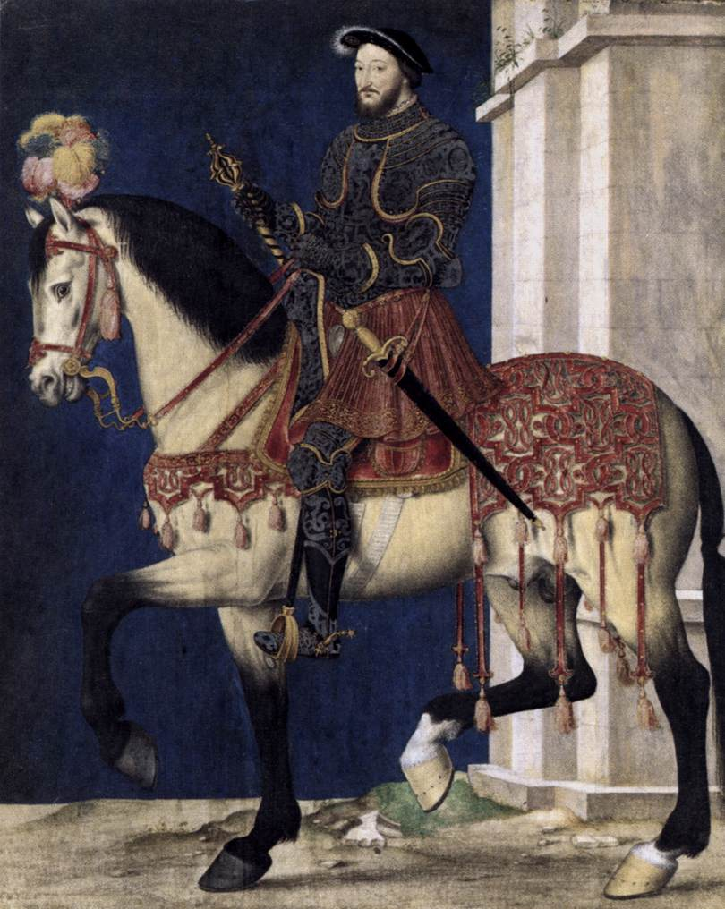 Portrait Of Francis I King Of France By Clouet Franois