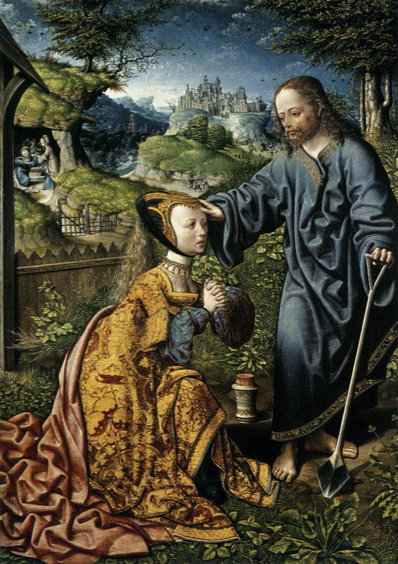 christ appearing to mary magdalen as a gardener by. Black Bedroom Furniture Sets. Home Design Ideas
