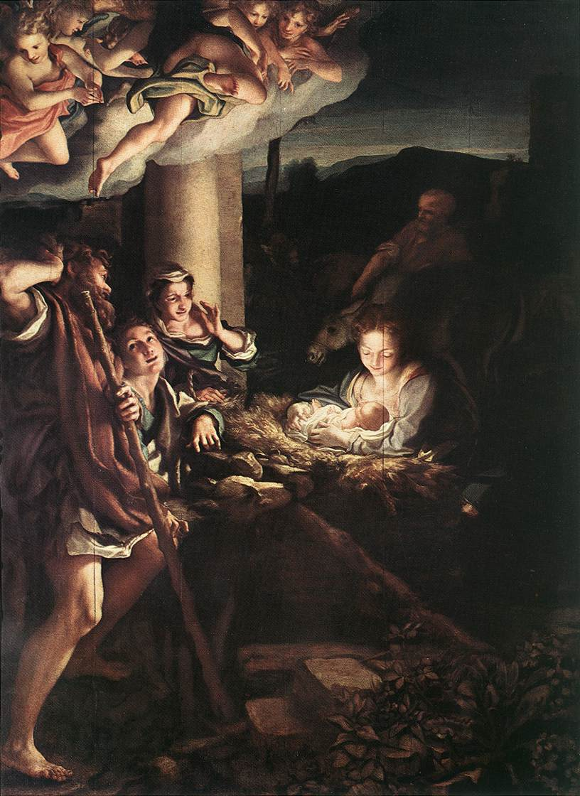 Correggio, Nativity (Holy Night), 1528-30, Gemäldegalerie, Dresden