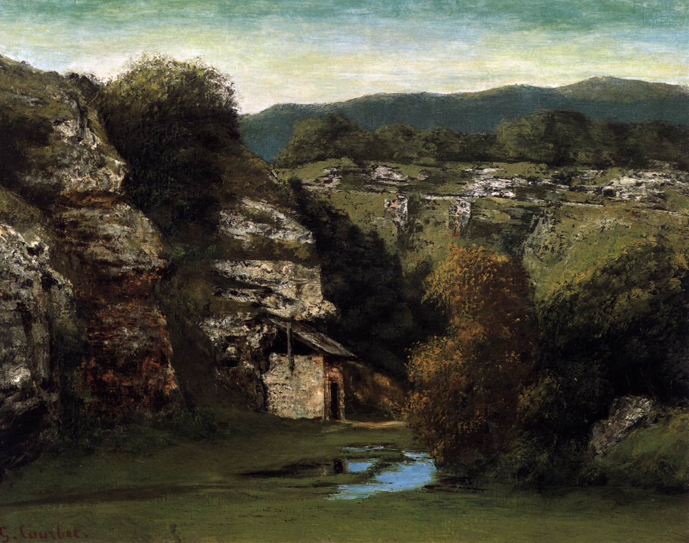 Rocky landscape near ornans by courbet gustave for Nearby landscapers