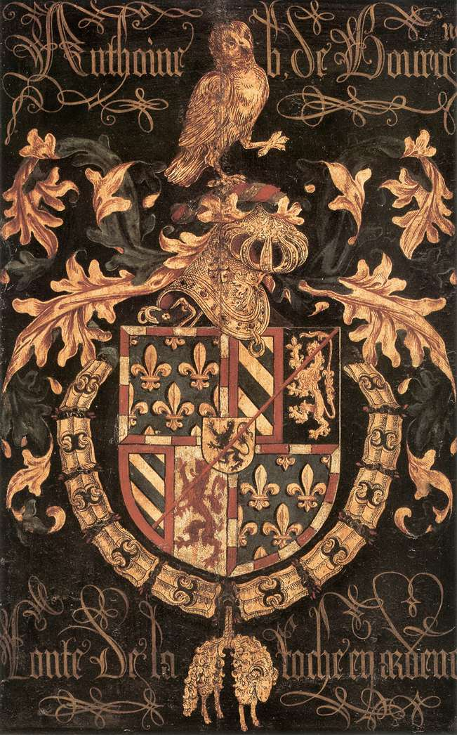 COUSTENS, Pieter Coat-of-Arms of Anthony of Burgundy, 1478