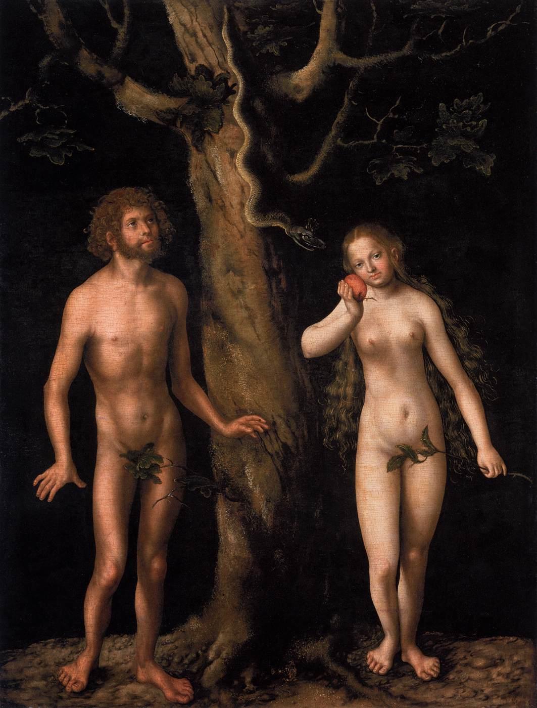 Cranach The Elder Adam And Eve Cranach Lucas The Elder Adam