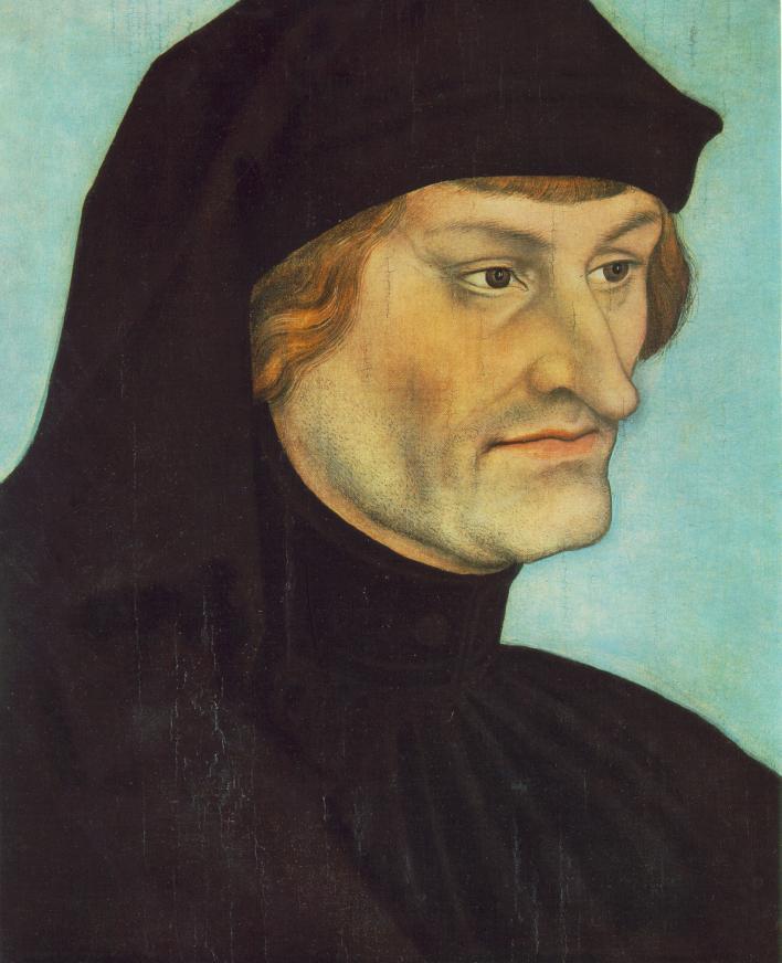 lucas cranach de oudere, portret van johannes geiler von kaysersberg
