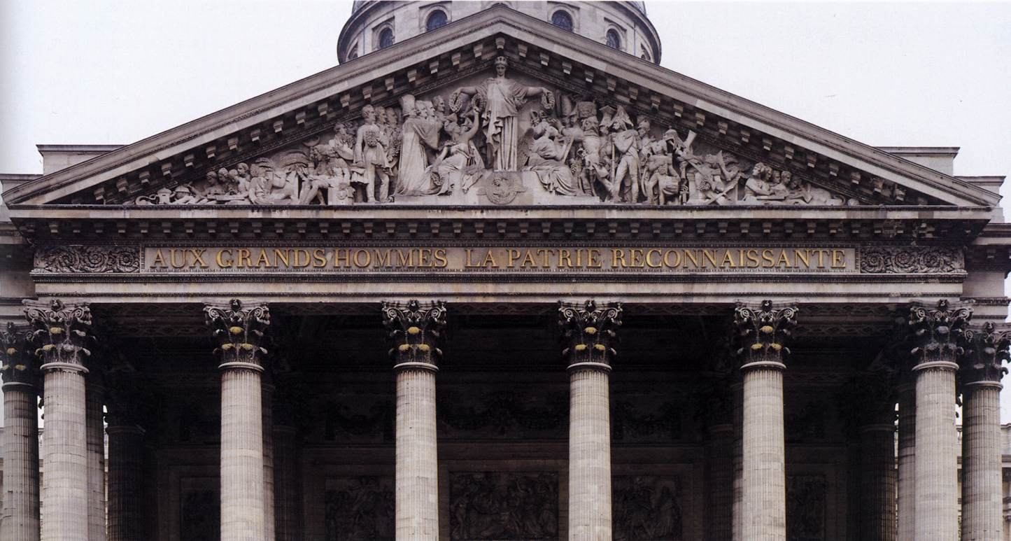 Gambrell Roof Pediment Relief Of The Pantheon By David D Angers