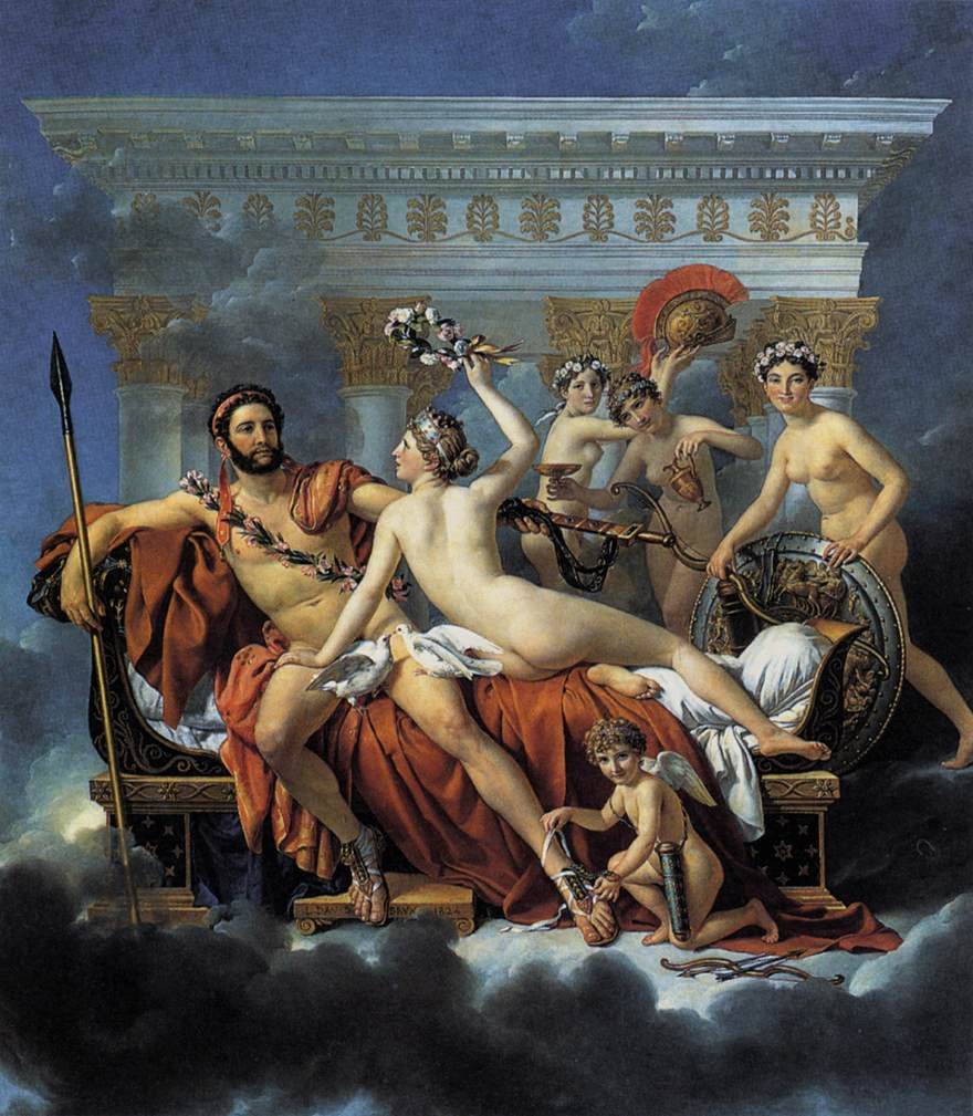 Mars Disarmed by Venus and the Three Graces by DAVID, Jacques-Louis