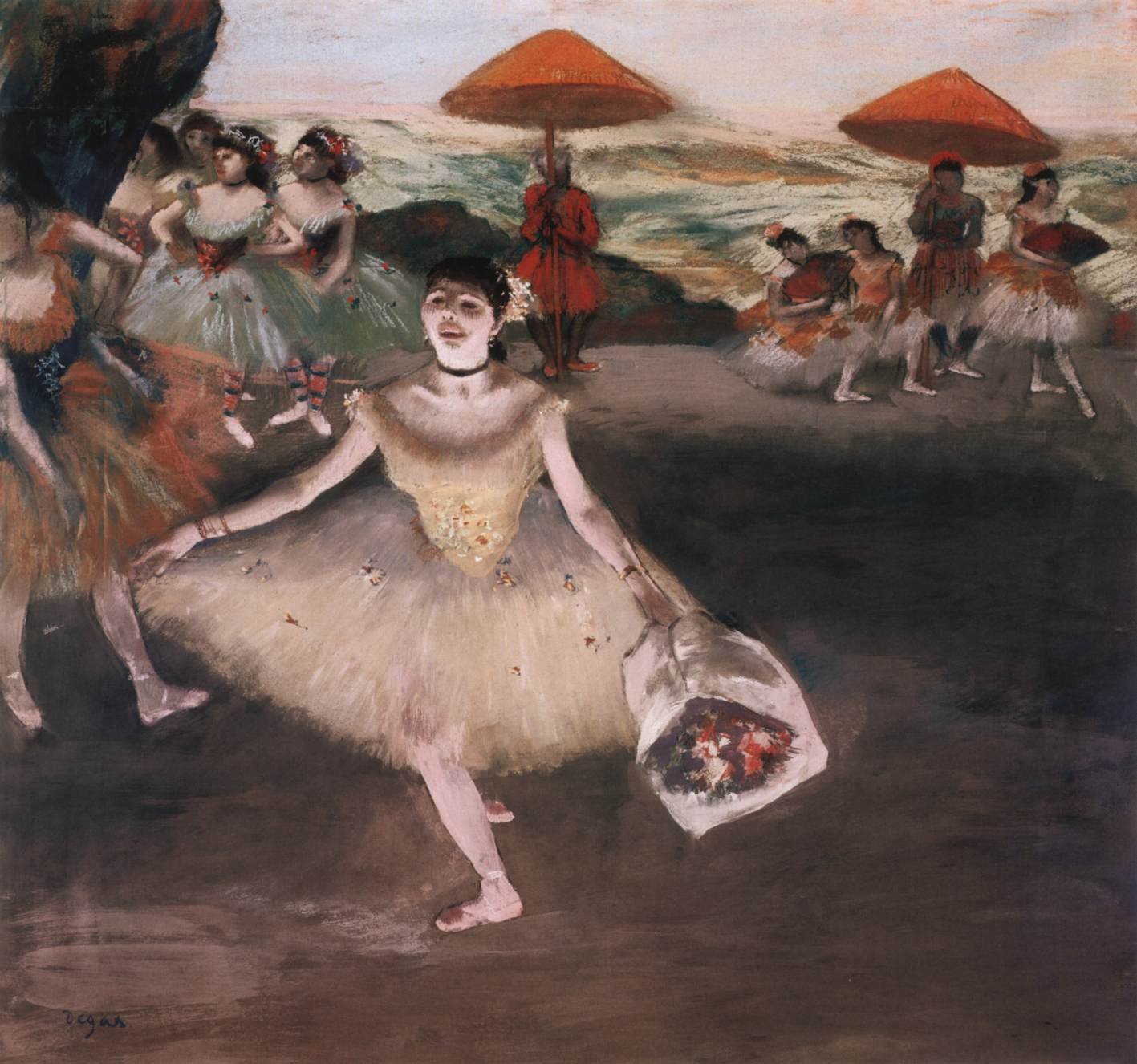 Dancer In The Changing Room Degas