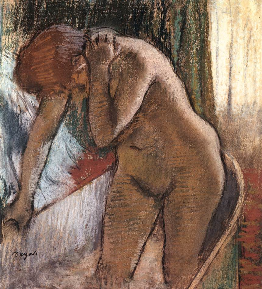 WoMan In Bath By Edgar Degas