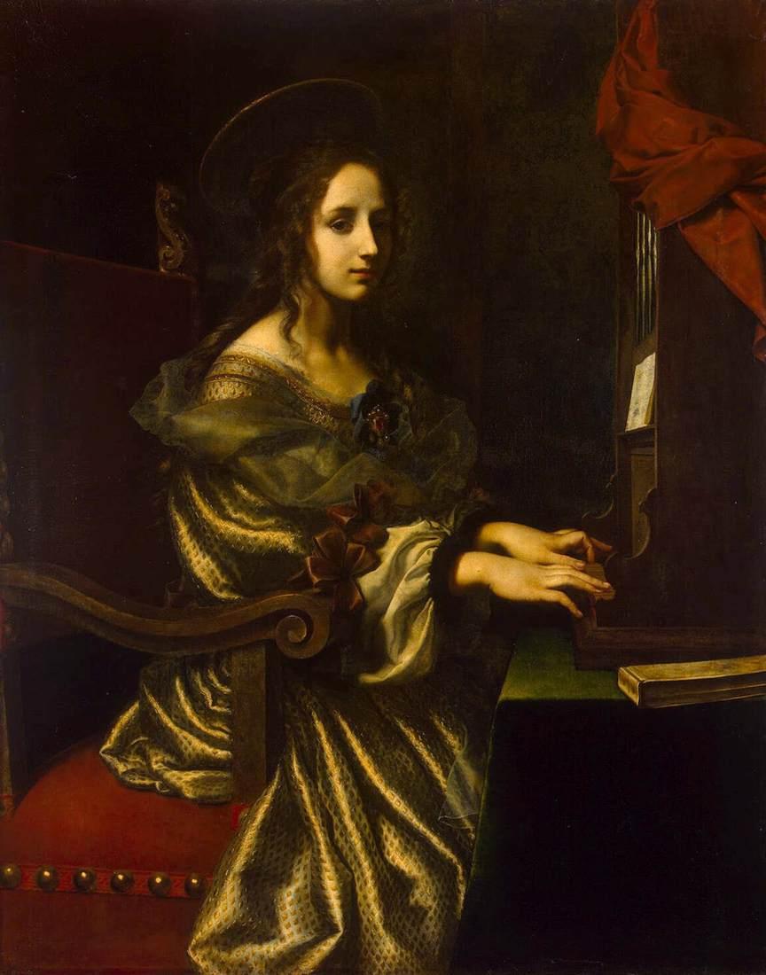 St Cecilia by DOLCI, Carlo