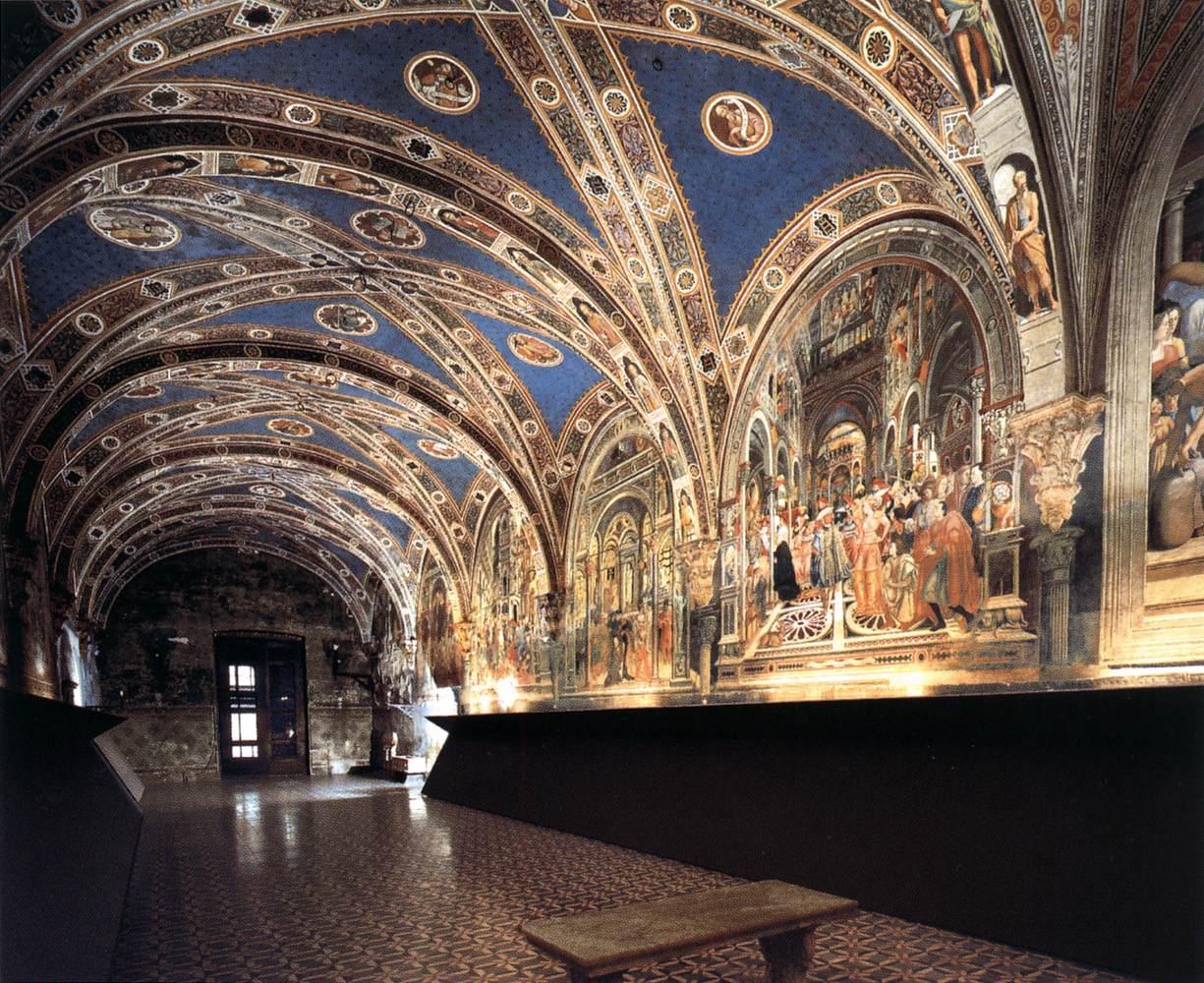 Frescoes In The Pellegrinaio Siena 1440 44